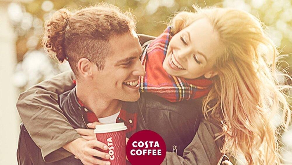 model i modelka na Costa Coffee